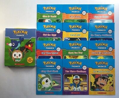 Pokemon Phonics Childrens Books Learning to Read Early Readers Lot 12