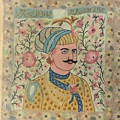 #18TH C hand embroidery ROYAL KING Afghan islamic ottoman qajar INDIA PARSIAN