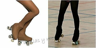 *free Postage* Over The Boot Ice Skate Roller Skating Tights 70 Den Black Or Tan