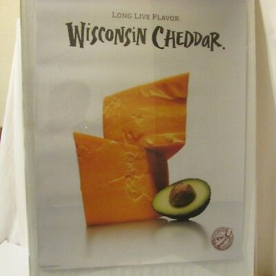 Cheddar Cheese Wisconsin Milk Dairy Agriculture Advertising Poster 2009
