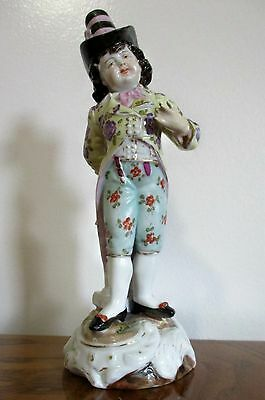 Antique Volkstedt Boy Figurine w/ two tined fork mark