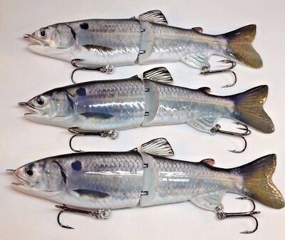 [3] Gizzard Shad Swimbaits Big Pike Muskie Bass Glide Baits Slow Sinking Lures