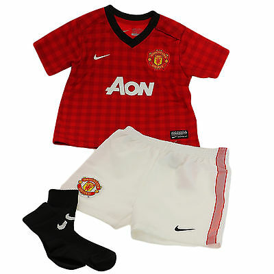 Nike Manchester United Mini Kit Baby Toddler Football Jersey Set New 12-36 Mo