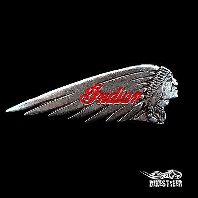 IW) Indian Motorcycle Chieftain, Chief Classic, Vintage look Metal Badge Pin