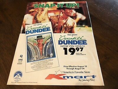 Crocodile Dundee VHS Kmart 1987 Print Ad