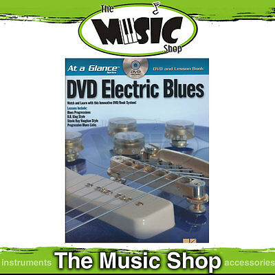 """New """"At A Glance DVD Electric Blues""""  Book & DVD Pack - Lesson Book"""