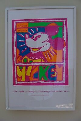 """Disney Mickey """"Fresh Mouse"""" Framed Lithograph Dick Duerrstein Signed"""