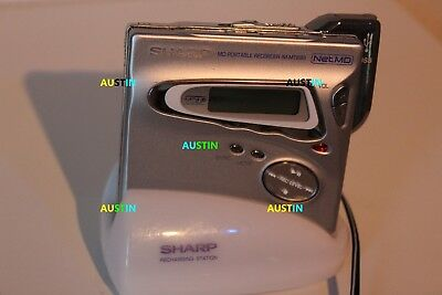 Sharp Md Mt899  Minidisc Recorder Player Net Md With Microphone