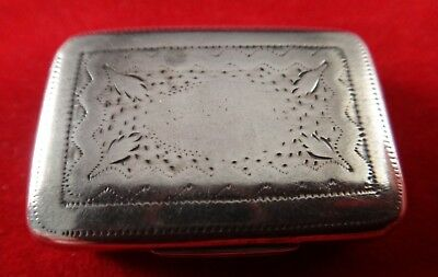 1812 Regency English Sterling Vinaigrette, Joseph Willmore, Floral pierced grill