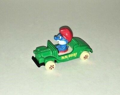 ERTL The Smurfs Papa Smurf Vintage Green Car # 4 from 1982 Made in USA