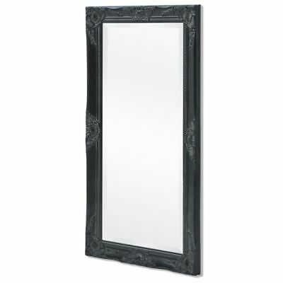 vidaXL Black Wall Mirror Ornate Vanity Baroque Bedroom Hallway Living Room Home