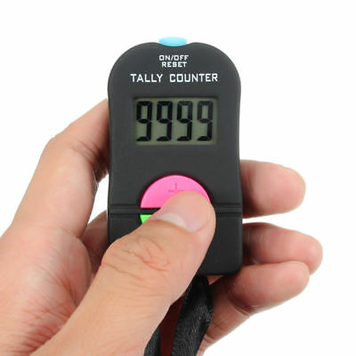 Useful *Sport Hand Tally Handheld Manual Digit Hand Tally Counter 6.5x3.5*2cm