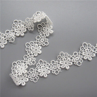 Wholesale 13yards/lot 2.5cm White Embroidered Lace Edge Trim Ribbon Sewing Craft