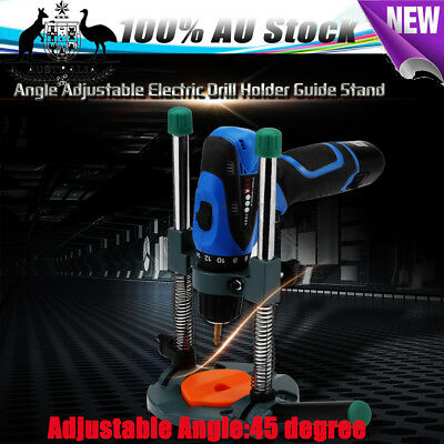 Electric Drill Guide Stand Holder Angle Adjustable 43mm Mobile Swivel AU SHIP