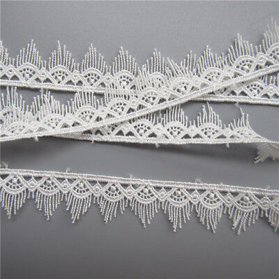 Wholesale 13yards/lot 2cm White Embroidered Lace Edge Trim Ribbon Sewing Craft