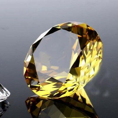 1*Diamond Shaped Crystal Glass Art Paperweight Wedding Favor Shower 40mm Elegant