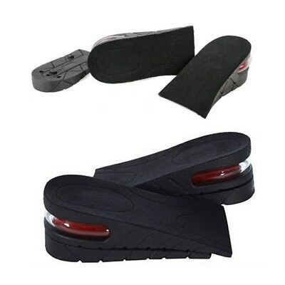 """Air Cushion Height Increase Shoes Insert Insoles Taller Height Lift 5cm/2"""" Blac"""