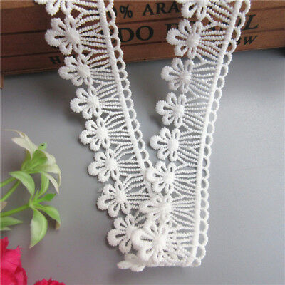 Wholesale 13yards/lot 3cm White Embroidered Lace Edge Trim Ribbon Sewing Craft