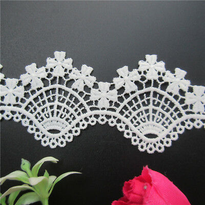 Wholesale 13yards/lot 5.5cm White Embroidered Lace Edge Trim Ribbon Sewing Craft
