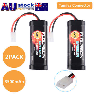 2x 7.2V 3500mAh NiMH RC Car Battery Female-tamiya Plug for RC Cars Truck Monster