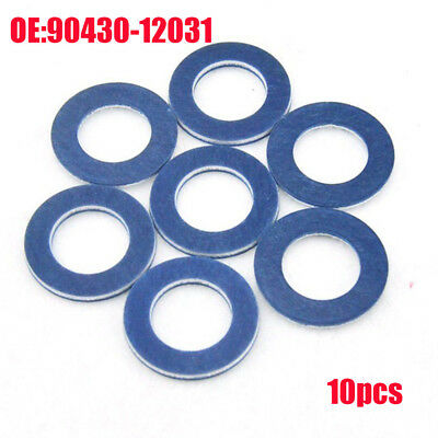 10Pcs OIL DRAIN PLUG WASHER OEM BLUE GASKETS (P/N 90430-12031) For TOYOTA/LEXUS