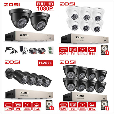 ZOSI CCTV Security Camera 720P/ 1080P HDMI 8CH DVR Video Home Outdoor System 1TB