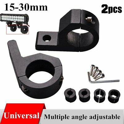 2PCS 15-30mm Bullbar Pipe Mount Bracket Clamps LED Work Light Bar + 2 set lineCH