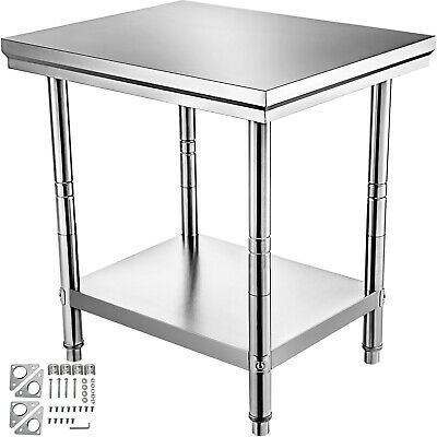762 x 610mm STAINLESS STEEL # COMMERCIAL FOOD PREP WORK BENCH OFFICE TABLE