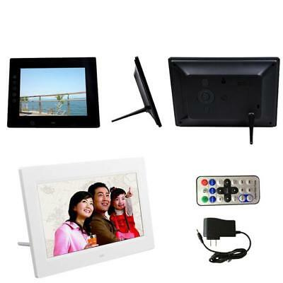 7INCH HD LCD Digital Photo Frame with Alarm Clock Slideshow MP3/4 ...