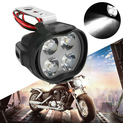12W Waterproof Motorcycle E-bike LED Headlight Spot Fog Light White