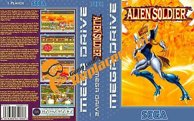 Alien Soldier Sega Megadrive Game Case Cover Insert Reproduction