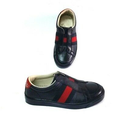 9d7cf4d02a0 GUCCI Black Shoes leather Slip-On sneakers for kids Size US 11 EU 28
