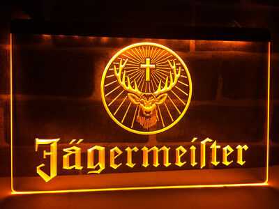 JAGERMEISTER Neon LED Light Sign Bar Club Pub **QUALITY** Display Man Cave Jager