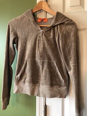 Juicy Couture J Zip Up Jacket Hooded Size Small Girls Cute Mountain Club