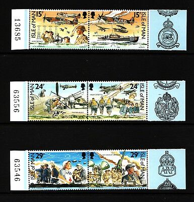 1990 Isle of Man, Battle of Britain, NH Mint Set of Stamps, SG 449-54