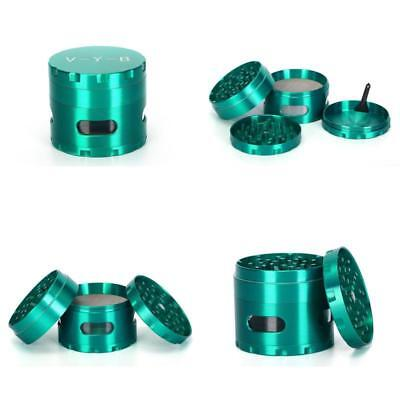"Large Spice Tobacco Herb Weed Grinder-4 Pcs With Pollen Catcher-2.5"" Gift Green"