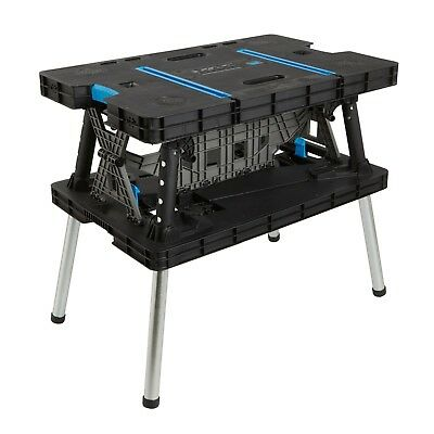 Keter Style Work Bench Portable Folding Adjustable Master Table Pro & Clamps