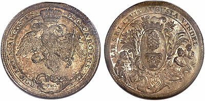 GERMAN ST. Augsburg. 1740 IT AR 2 Thaler. NGC MS66. KM 146. Realized $22325.