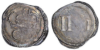 IRELAND. Charles I. (1643-44) AR 1/2 Crown PCGS XF40 KM61 Attractively toned.