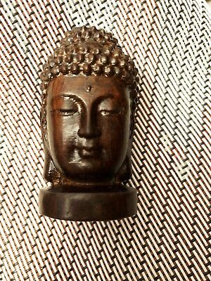 Collectibles Chinese Hand Carved wooden Tibetan Buddhism Buddha head Statues