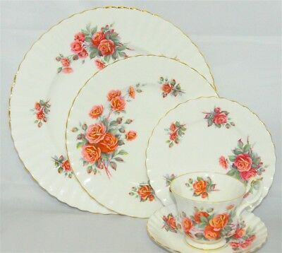 1-Royal Albert Centennial Rose 5 piece Place Setting ( 10 Available )