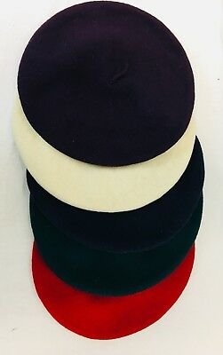 Vintage Wool French Beret Hats Lot of 5
