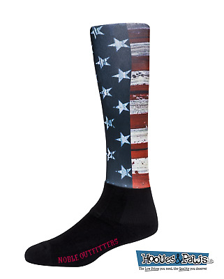 Noble Equestrian Peddies Socks Over the Calf Caribbean Wave Turquoise Blue