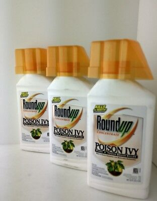 Round Up poison ivy 32 oz NEW lot of 3