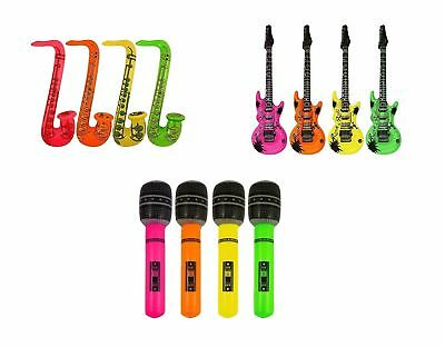 Inflatable Music Instruments Guitar/saxophone/microphone Colorful Party