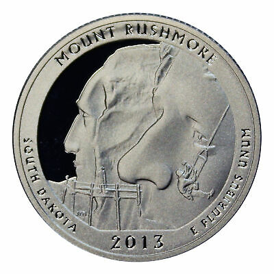 2013 S Parks Quarter Mount Rushmore Gem Deep Cameo Proof 90% Silver US Coin