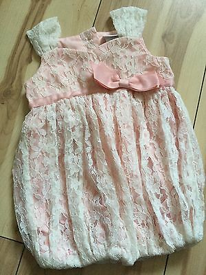 Baby Girls Piper Posie Pink Lace Dress 3 6 Months 15 00