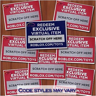 Roblox Exclusive Online 2019 CODES ONLY Celebrity Gold Series 1 2 3 4 5 6 Toys