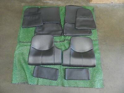 Porsche 997 Rear Seat bottoms And Miscellaneous Seat Covers Black Leather 997522