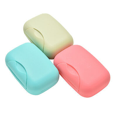 Home Bathroom Shower Travel Hiking Soap Box Dish Plate Holder Case Container LJ